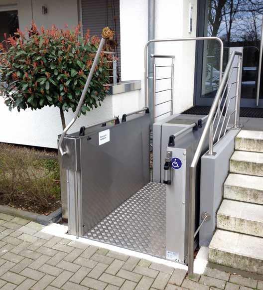 Plattformlifte für Innen- und Außenbereich